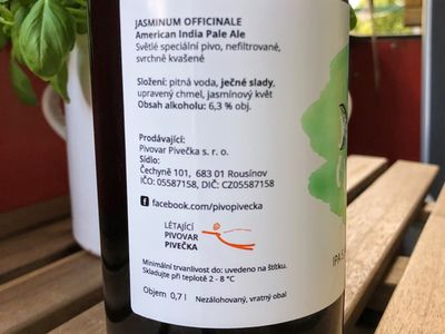 Pivo Jasminum Officinale - American India Pale Ale - 3